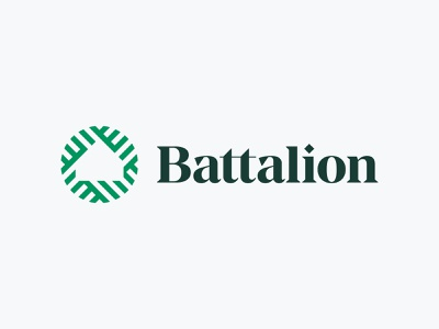 Battalion venture capital technology real estate negative space block mortgage house home brand identity mark minimal design branding logo