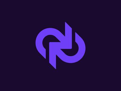 WIP collaboration work startup link arrow brand identity mark minimal design branding logo