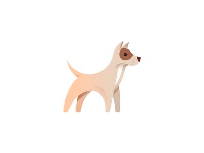 Dog illustration minimal bulgaria tsanev geometric animal cute puppy icon illustration dog