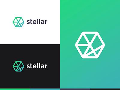 Stellar Influence minimal icon connection constellation branding design logo stellar