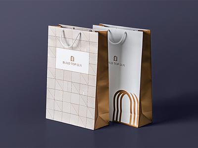 BTL Branding paper bag lux door building arch branding design logo