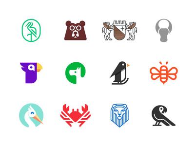 Animal Logos By Alexander Tsanev Dribbble