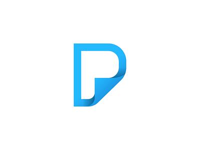 P-Page Monogram branding doc paper logo monogram page p