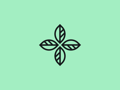 Herballis pharmacy branding logo nature cross leaf herbal