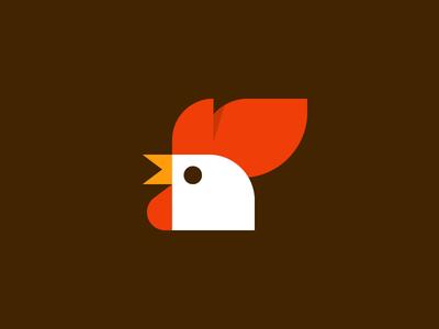 Rooster geometry branding logo bird chick pollos rooster design