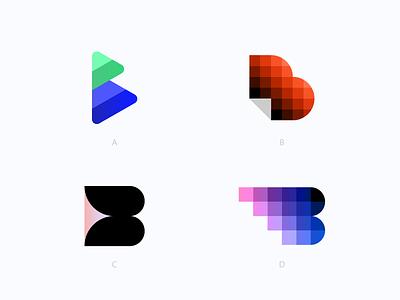 B Monograms pixelated pixel digital app payment branding logo monogram b