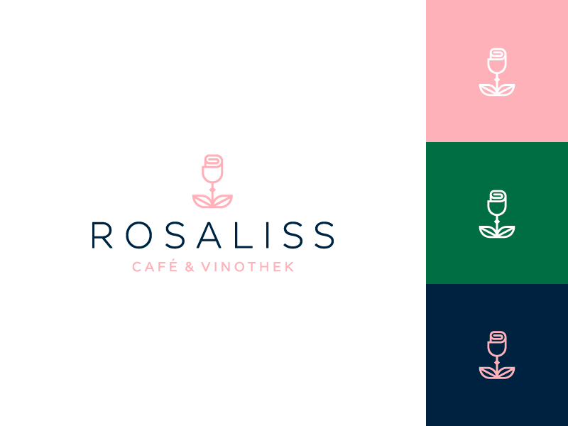 Coffee shop Branding minimal brand coffee wine design logo branding rose