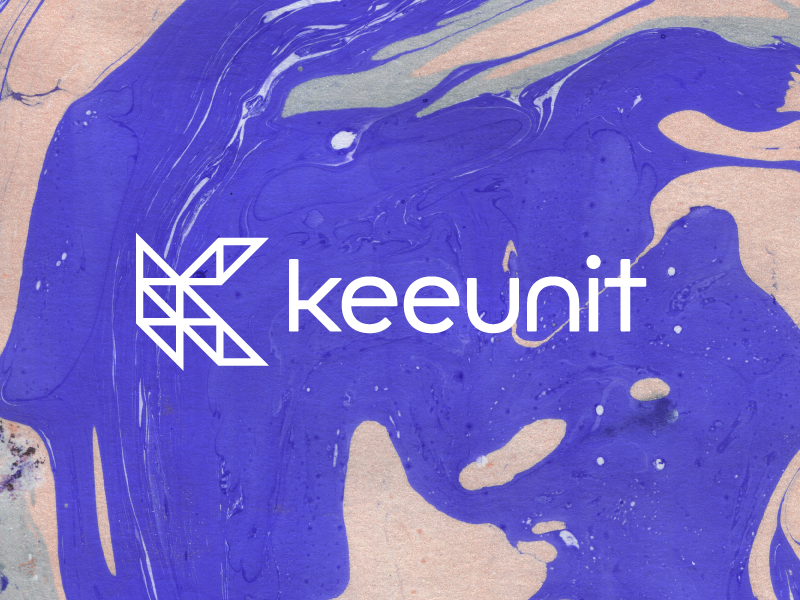 Keeunit Logo monogram learning texture marble brand guide brand logo kee unit
