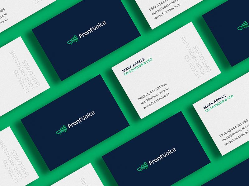 Frontvoice Cards branding identity megaphone brand guide logo brand design card