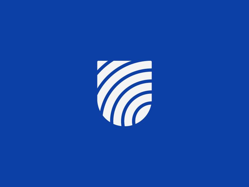 U Monogram grid identity color branding logo letter minimal crypto block chain monogram u