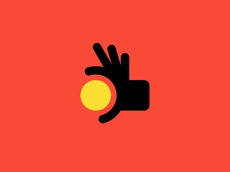 Hand Coin Mark design money branding app payment logo hand coin