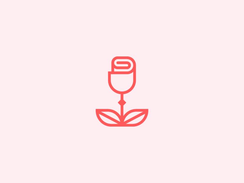 Rose Mark minimal brand coffee wine design logo branding rose