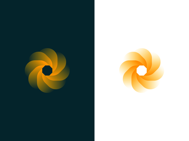 Flower transparency leaf branding design logo flower