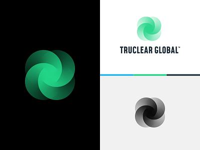 TCG Branding design bending 3d projection branding logo mark light
