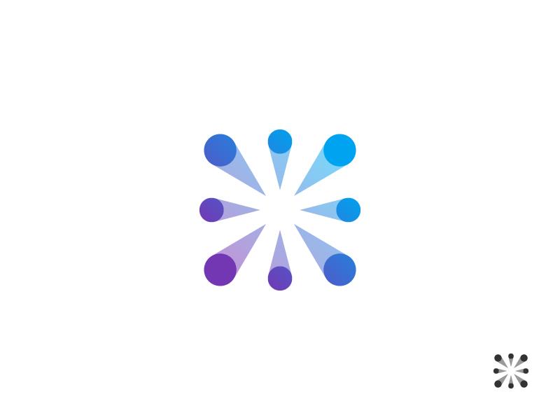 Wip mark branding global progress data light logo perspective symbol