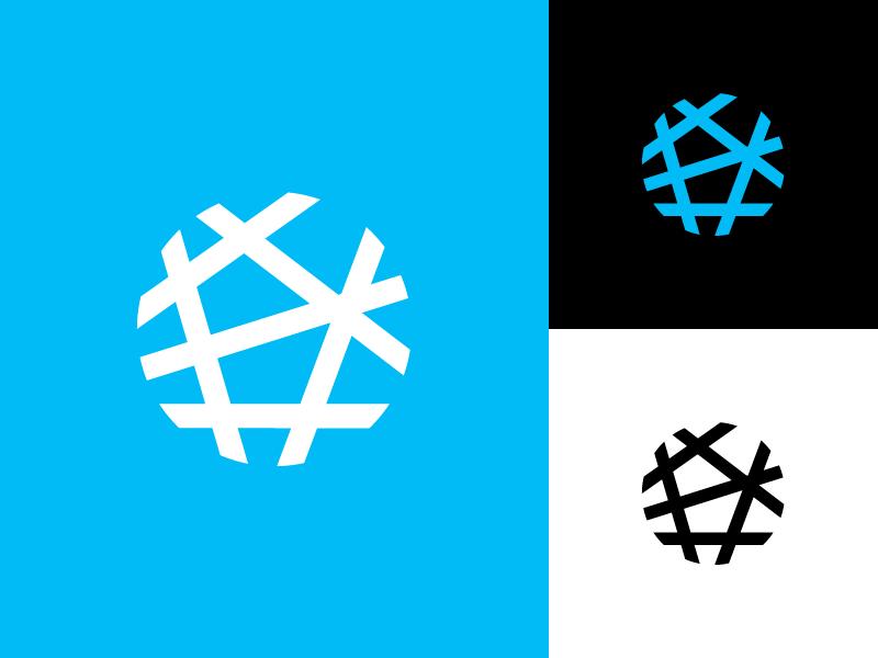 Neuro/Map Mark oval branding symbol mark logo map neuron