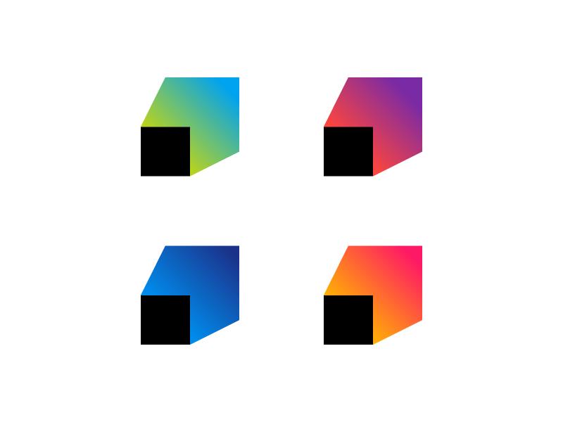 Projection mark gradient show spotlight t branding logo lights projection image