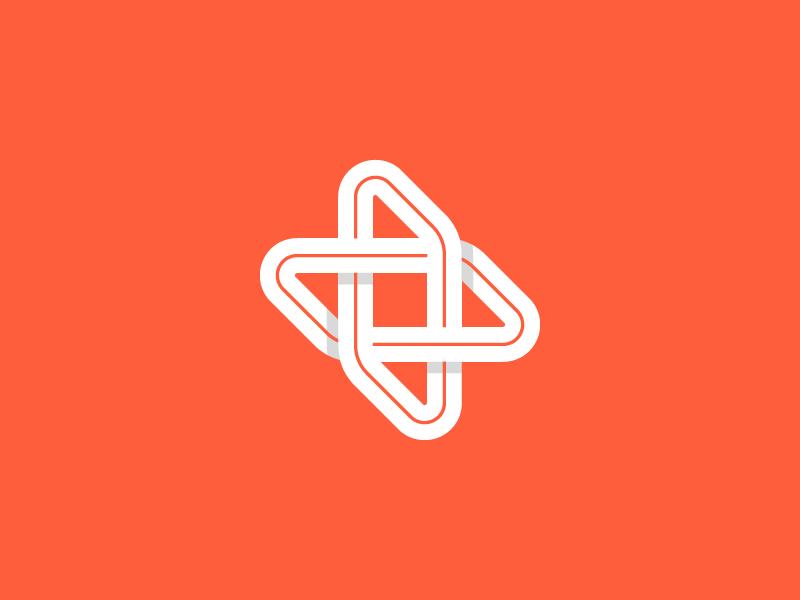 Plus symbol fold minimal symbol letter branding design logo plus
