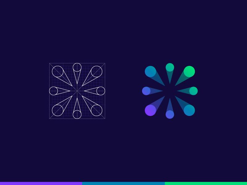 Yoway Mark transaction peers money financial decentralized crypto grid branding logo mark yoway