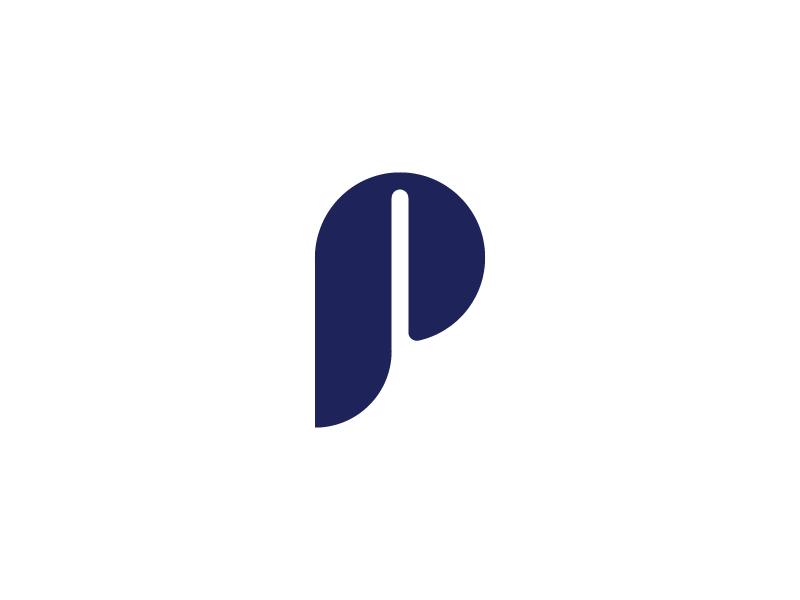 P Monogram symbol branding mark letter logo monogram p