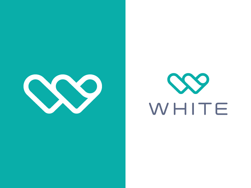 White Branding w medic care together branding doctor healthcare hearts logo white