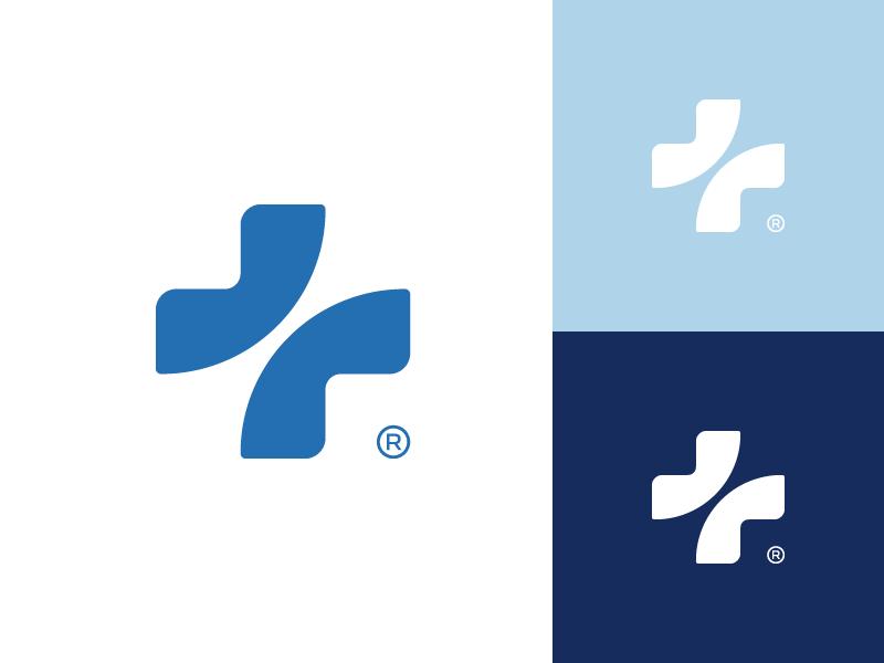 Healthcare mark together branding logo doctor healthcare cross medic