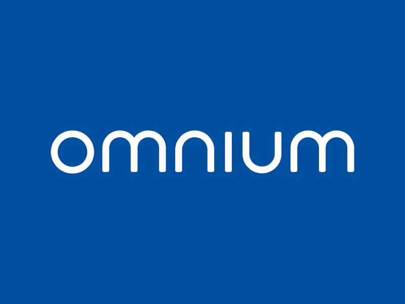 Omnium Wordmark typography letters minimal branding logo wordmark omnium