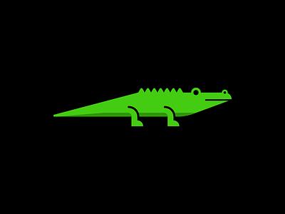 Crocodile gator animal beast reptile mark logo crocodile