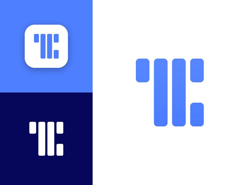 TC Mark branding processing tech data design logo mark monogram c t