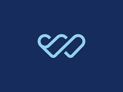 W monogram infinity branding logo healtcare doctor love heart w