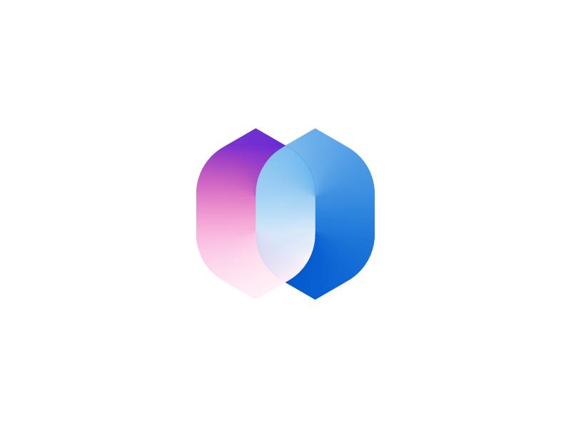 H/Bond Mark connect blockchain chain bond branding logo mark h
