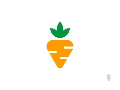 Veggie Mark restaurant vegetables yummy minimal branding design logo food carrot veggie
