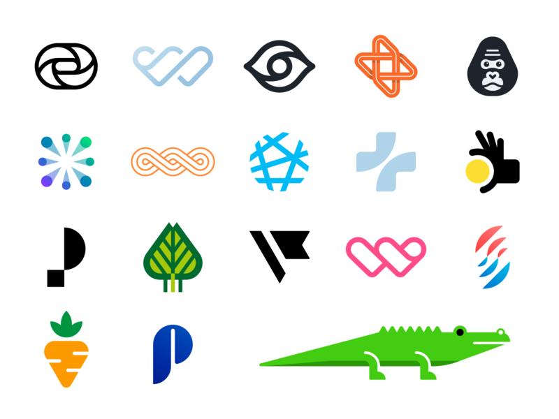 Logo update coin animal icons collection blockchain startup monogram logos design branding logo