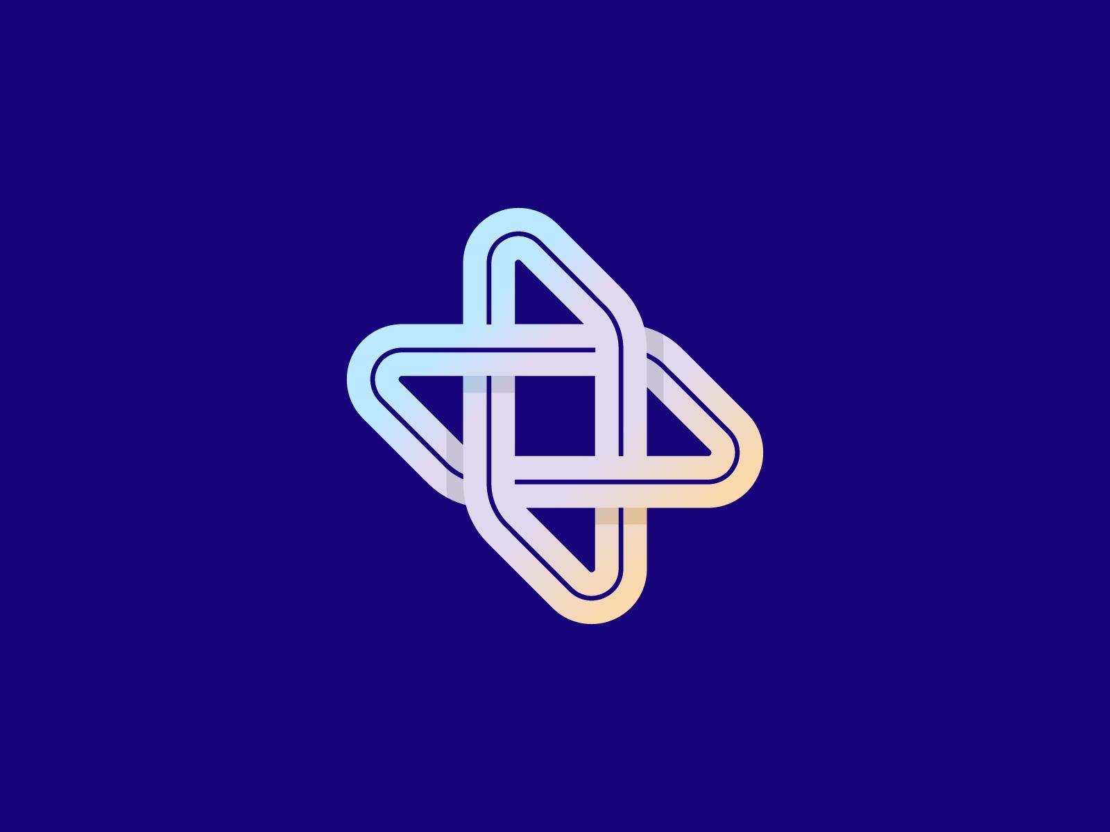 Plus gradient startup fold minimal branding design mark logo plus