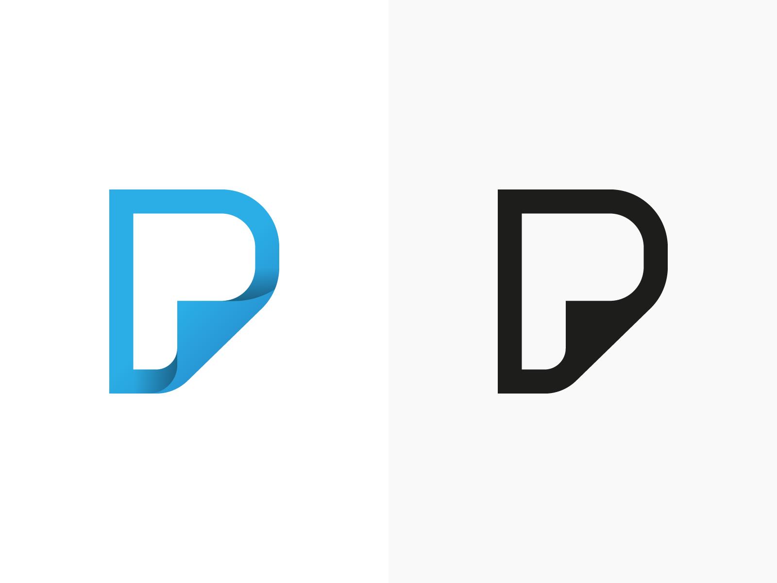 P page monogram