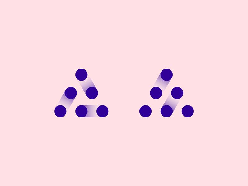 Wip Monograms branding minimal info bit communicate link connection data monogram logo a