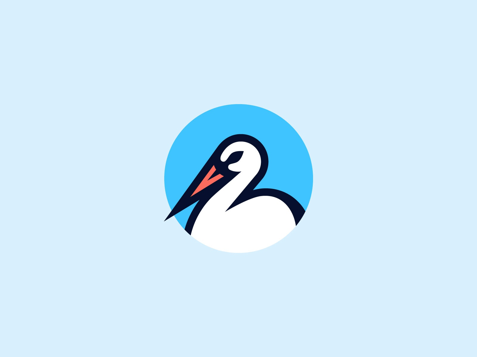 Stork head beak animal branding logo mark bird stork