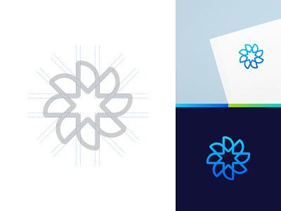 Wind mark icon water green energy symbol branding energy wind mark logo propeller