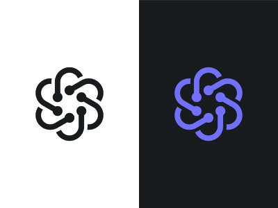 Molecule logo geometric minimal mark team strong united branding logo bond atom chemistry molecule