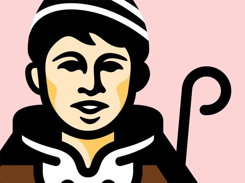 Koledar Mark wip portrait song tradition boy character branding mascot face logo christmas koledar