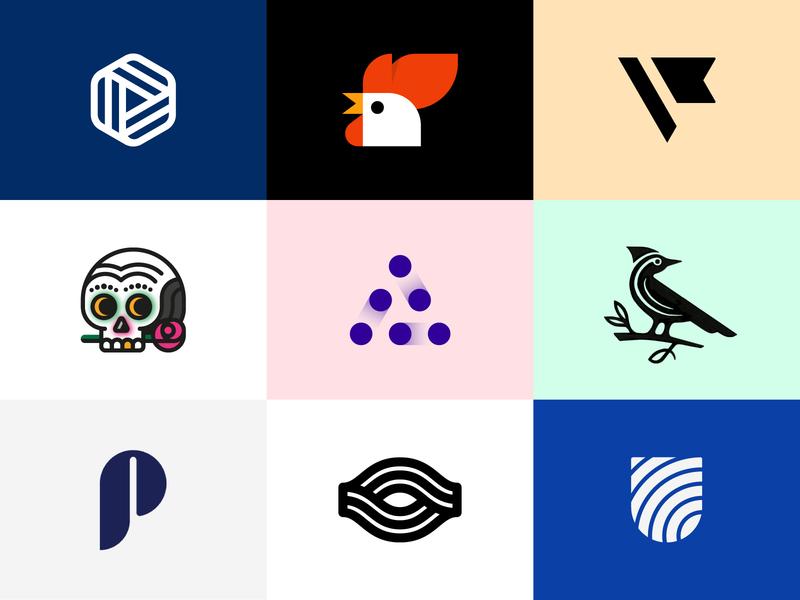 Best shots 2018 minimal monogram u p flag abstract eye letter monograms skull bird rooster vote best branding logo