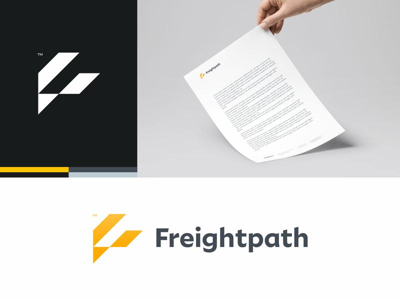 Freightpath Branding stationary design cargo path geometric minimal identity monogram logo branding freightpath