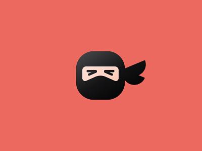 Ninja ninja black belt logo mark face human mask branding martial arts