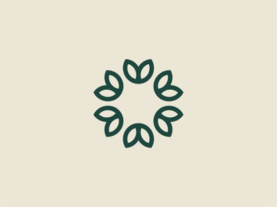 Flower Mark medical leafs simple beauty organic herbal flower branding brand logo