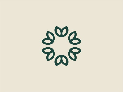 Flower Mark medical leafs simple beauty organic herbal flower branding brand logo
