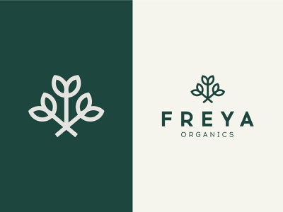 Freya Organics minimal flowers bouquet beauty branding brand herbal organic natural logo