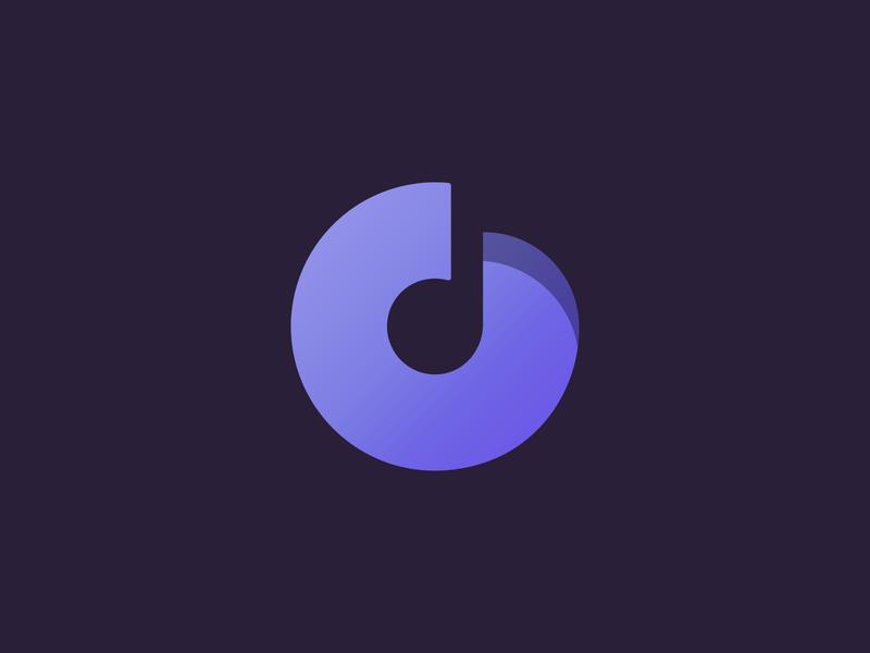 d/Music note d note music logo brand branding community negative space minimal