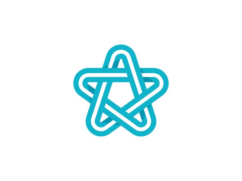 Star star logo mark branding interaction app