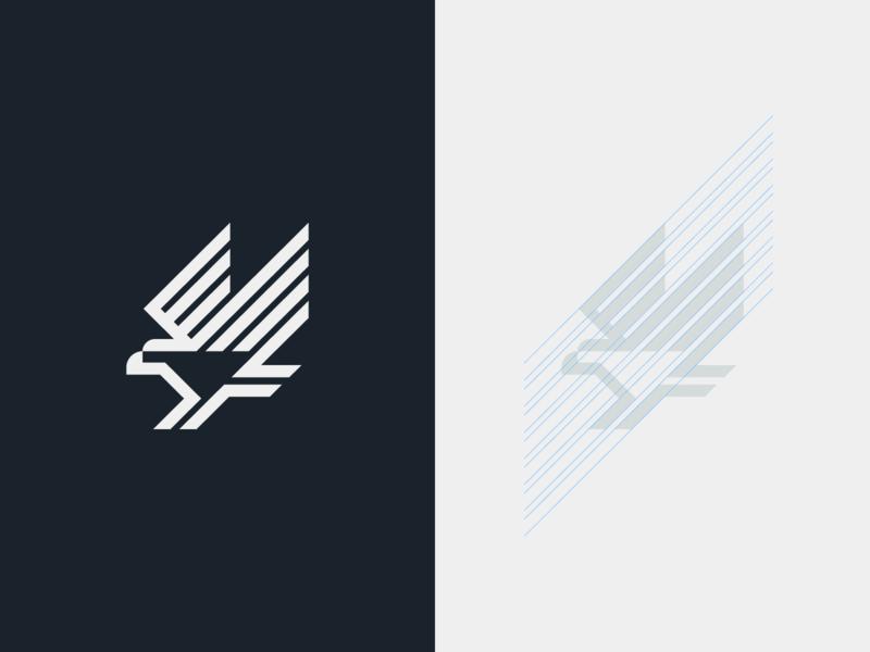 Eagle geometric design fast minimal branding bird logo eagle
