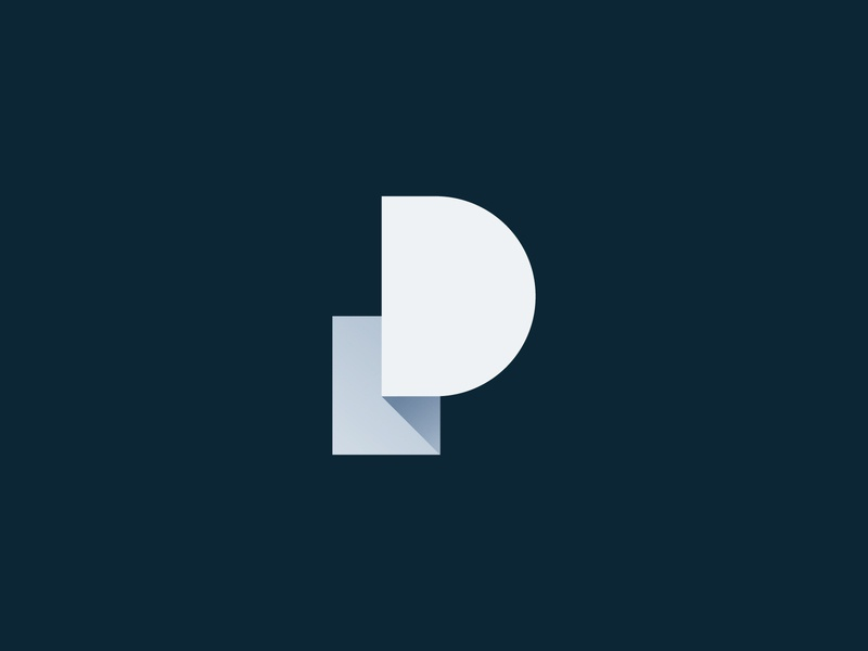 P monogram icon design geometric minimal typography letter branding logo monogram p